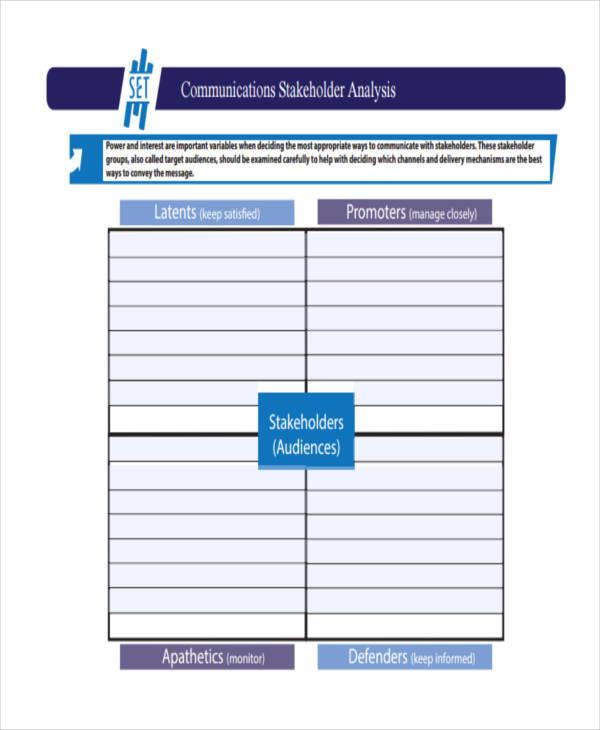 stakeholder communications analysis1
