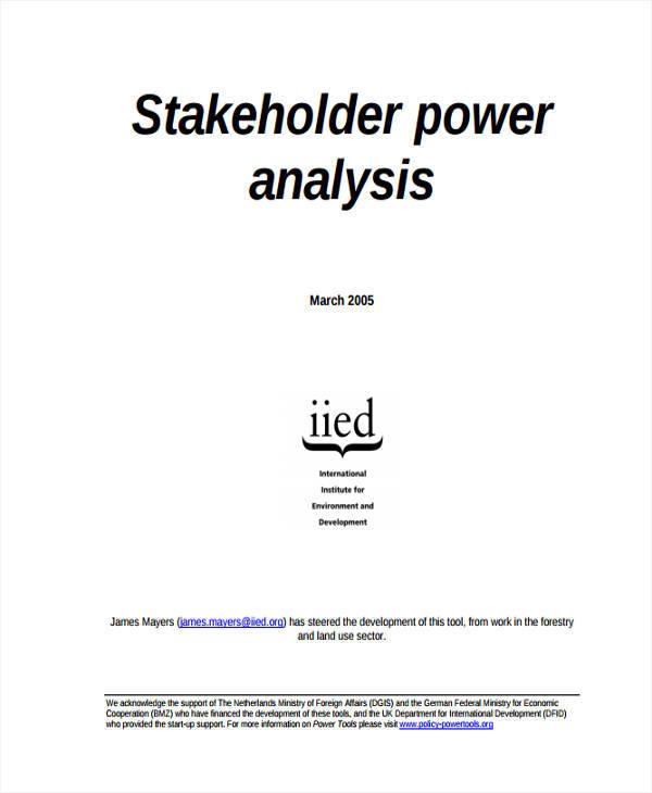 stakeholder position analysis