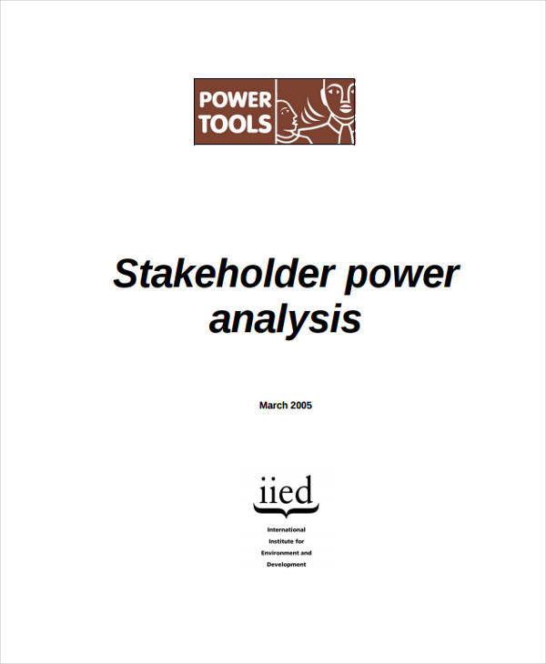 stakeholder power analysis