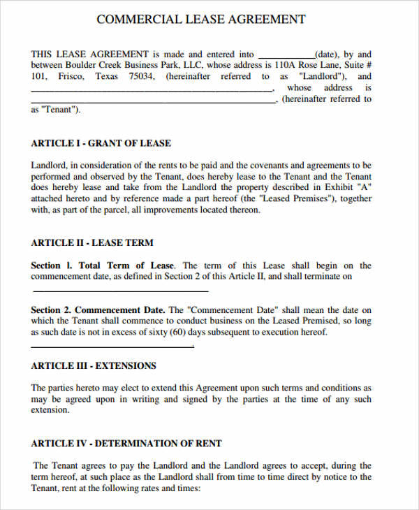 standard business lease agreement1