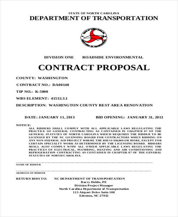 standard contract proposal