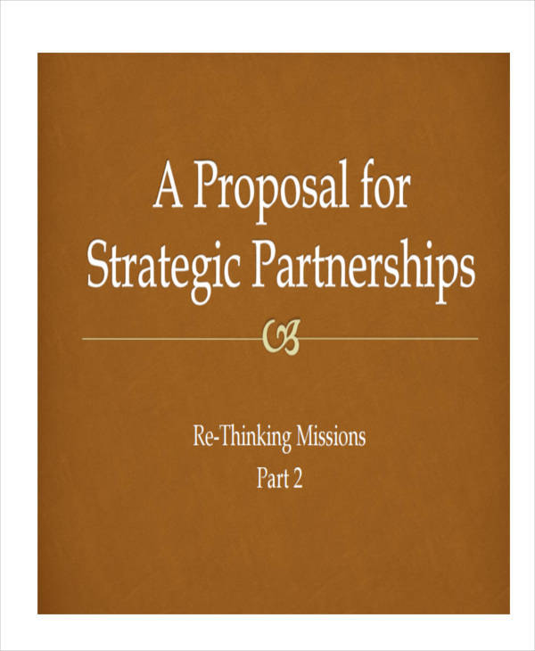 strategic partnership proposal