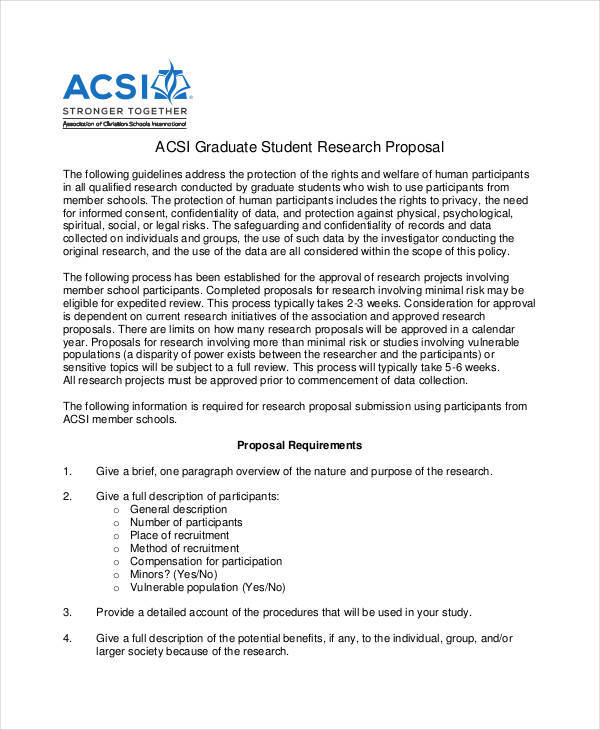 student research proposal