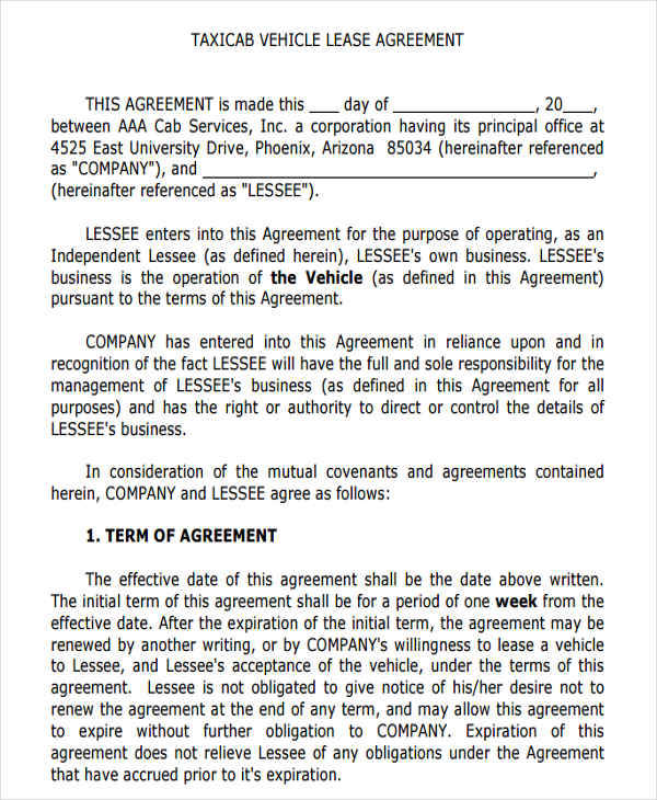 Lease Agreement Fill Out And Sign Printable Pdf Template