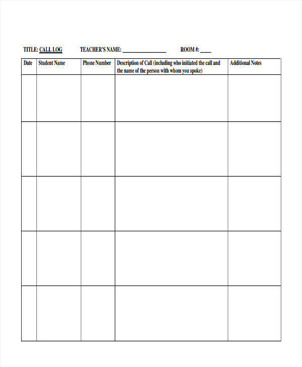 photograph about Log Sheets Templates identify 16+ Contact Log Templates in just PDF