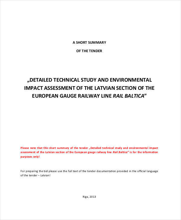 technical impact assessment