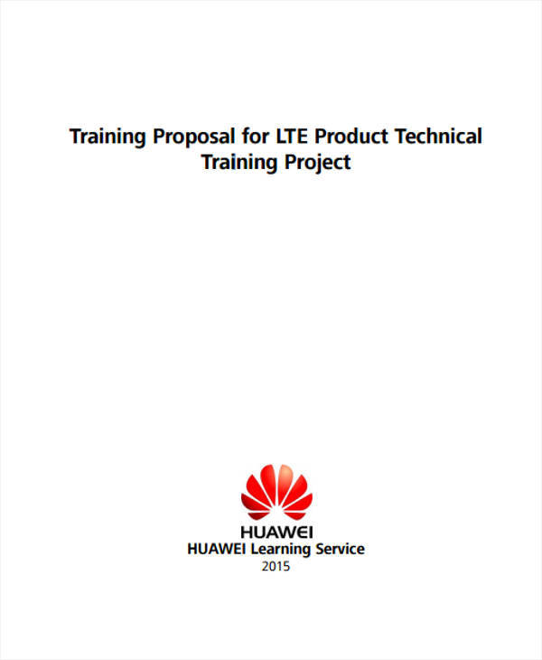 Technical Training Proposal Example