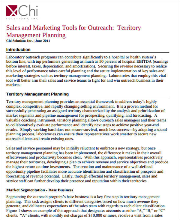 38 sample sales plan sample templates for Sales territory plan template