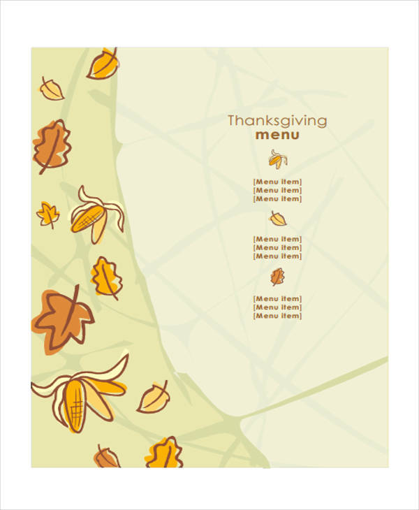 thanksgiving menu1