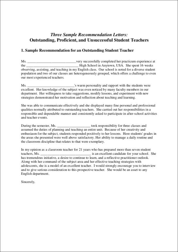Sample Recommendation Letters For Students And Job Seekers