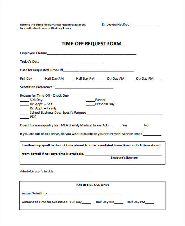 Family Medical Leave Act Form Fmla Forms California Family Medical