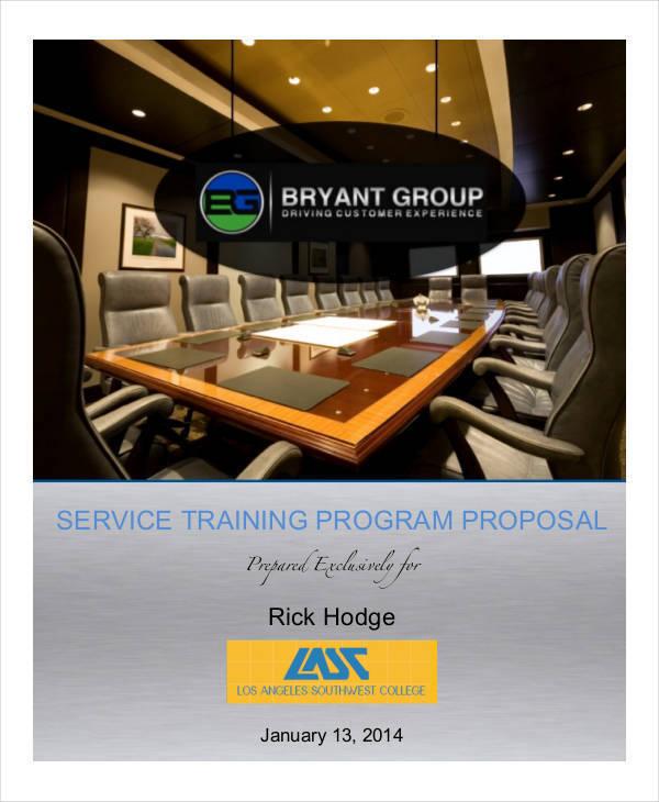 training program proposal