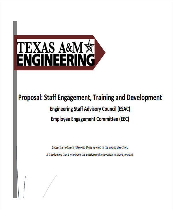 training proposal for staff