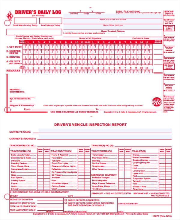 Driver Log Sheet Template Driver S Google Search Business