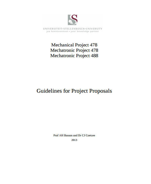 79 Project Proposals In Pdf