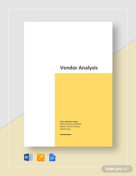 vendor analysis template