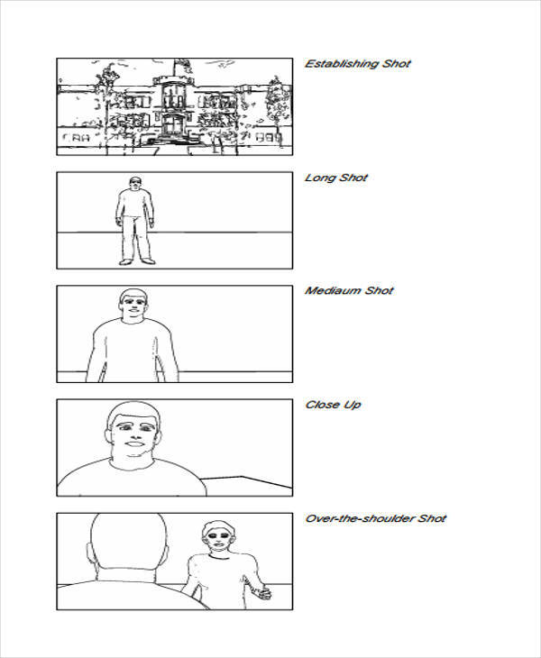 Vertical Storyboard Samples   Examples In Pdf