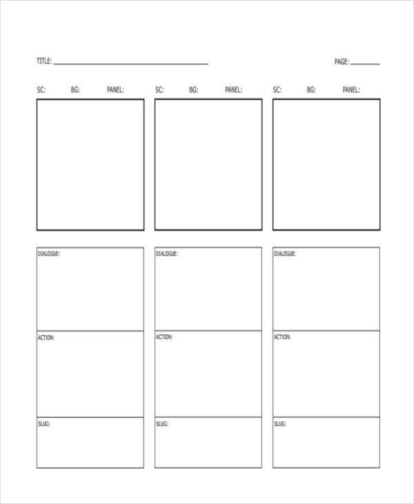 Vertical Storyboard Samples - 6 Examples In Pdf