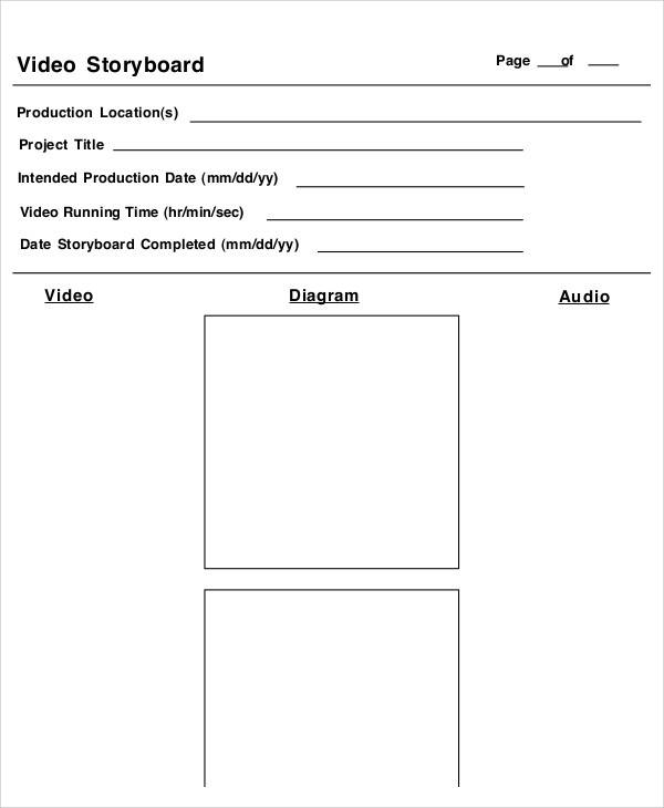 10 Video Storyboard Templates - Free Sample, Example, Format Download