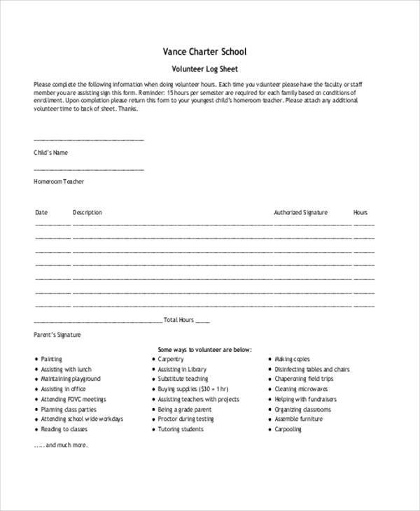 volunteer log sheet1