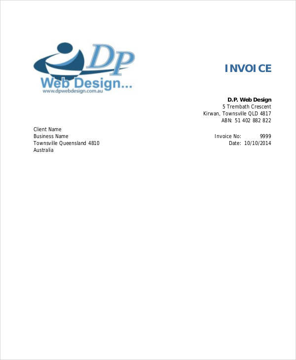 Sample Web Design Invoice Examples In PDF Word - Web design invoice template
