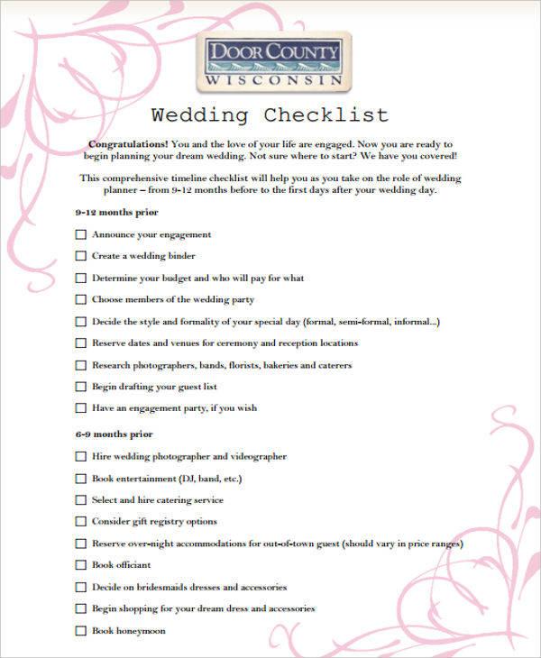 43+ List Templates in PDF