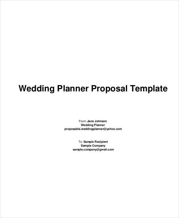 wedding planner proposal