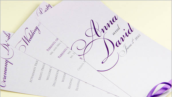 Free How To Design Wedding Program Template With Samples