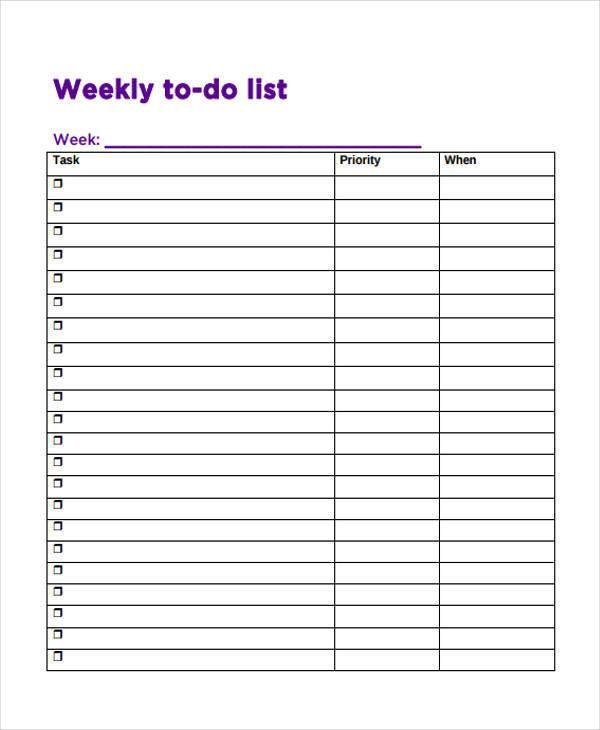 priorities list template