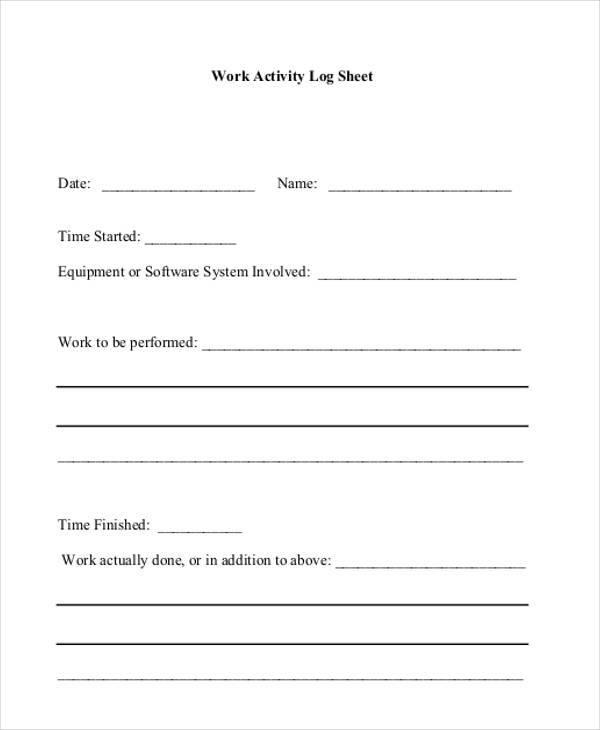 work activity log sheet2