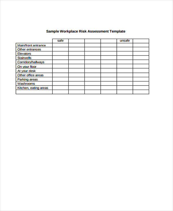 workplace hazard assessment template - 37 risk assessment forms sample templates