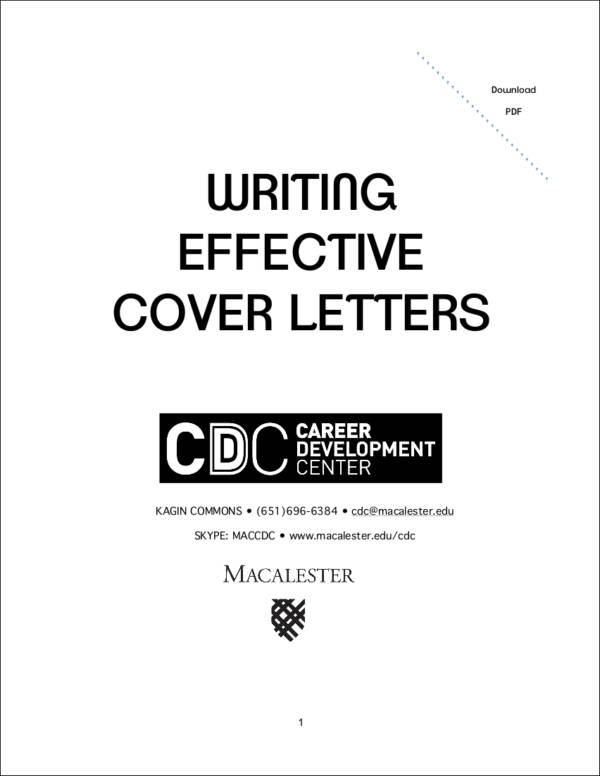 writing effective cover letters