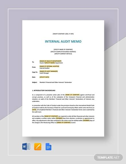 internal audit memo3