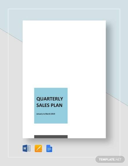quaterly sales plan