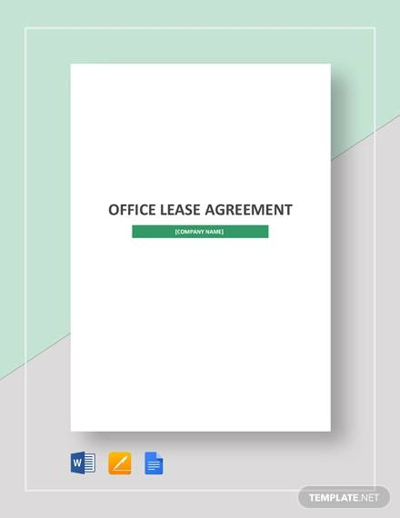 sample office lease