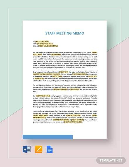 19+ Meeting Memos - Free Sample, Example, Format Download