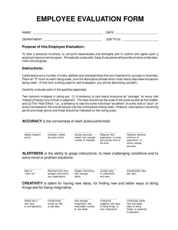 3 evaluation form