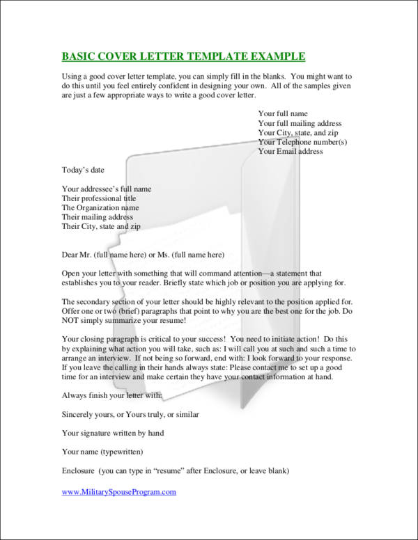 what should i name my cover letter - essential elements of a cover letter sample templates