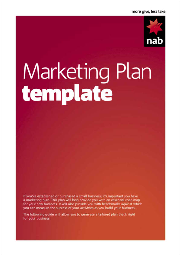 blank marketing plan template