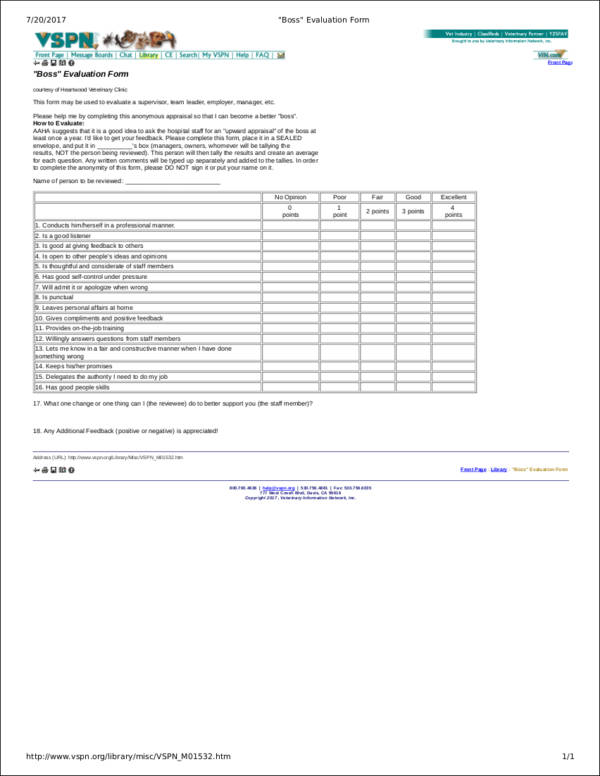 creating effective evaluation forms