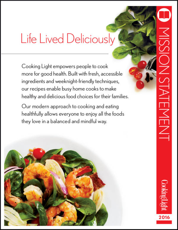 cookinglight mission statement sample