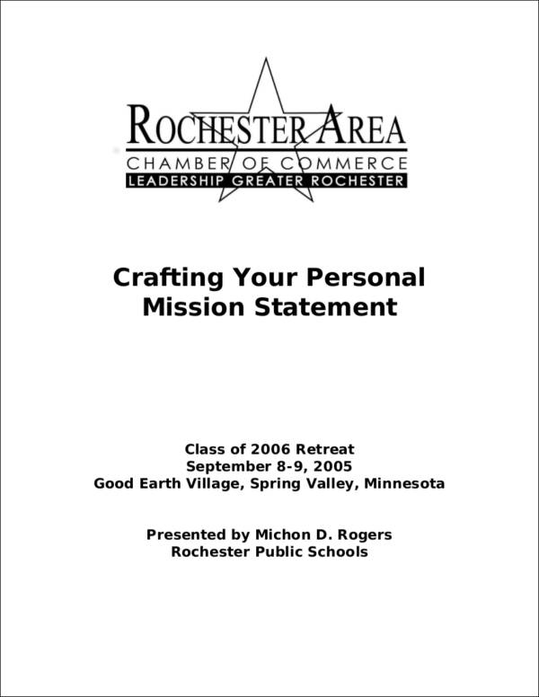 crafting your personal mission statement