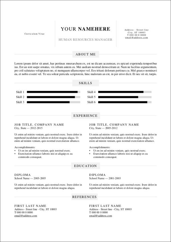 data driven resume template