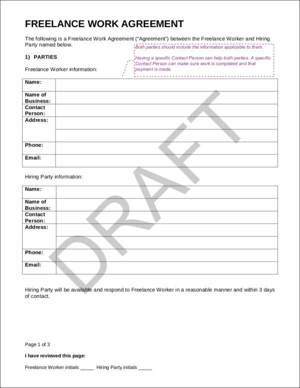 Free Contract Templates   Free Samples Examples Formats Download