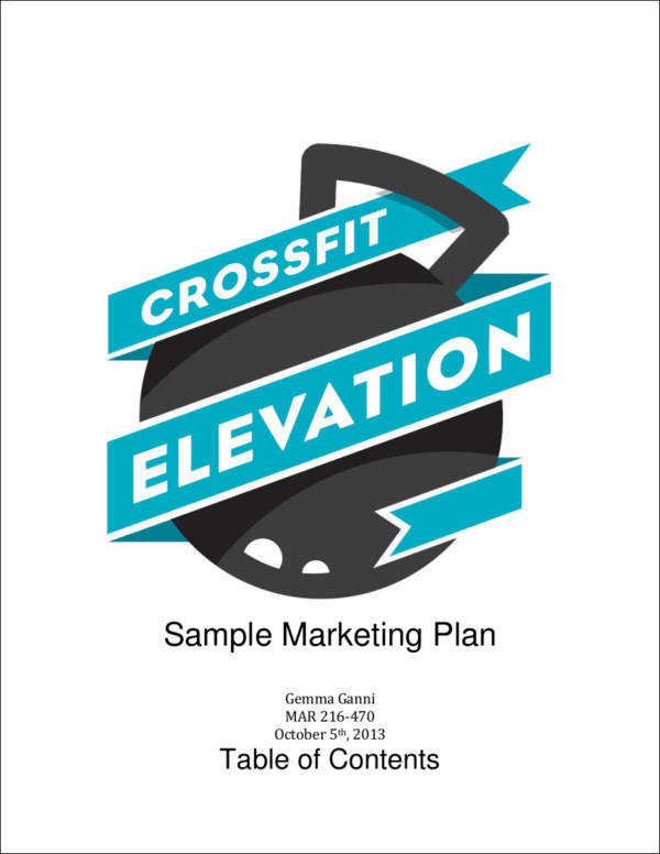 gym sample marketing plan