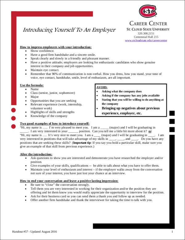 introduction letter to employer template