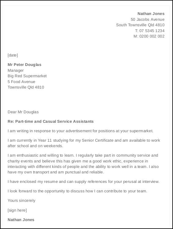 job cover letter with no experience