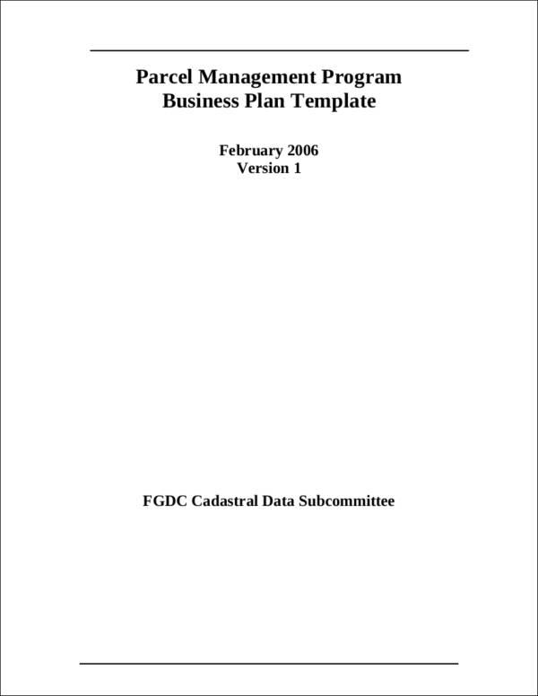 parcel mgt prog business plan v1