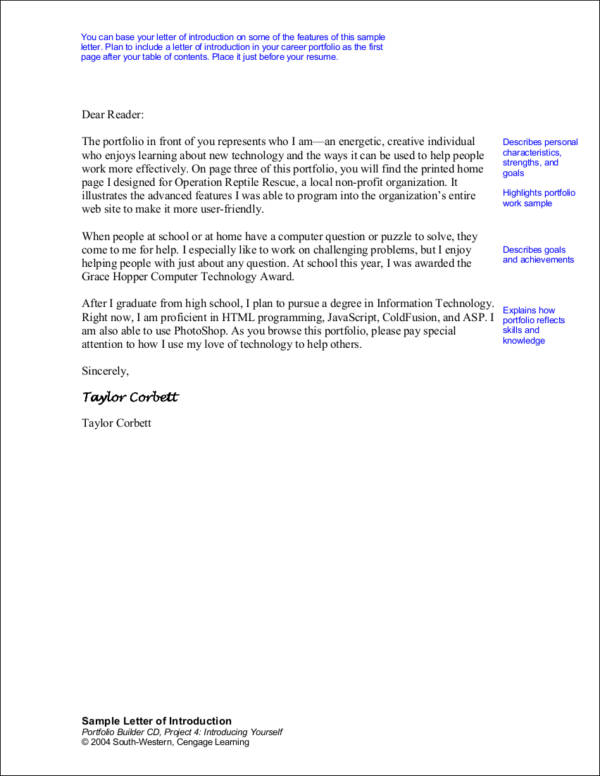 Letter Of Introduction Template Of Introduction Letter Letter