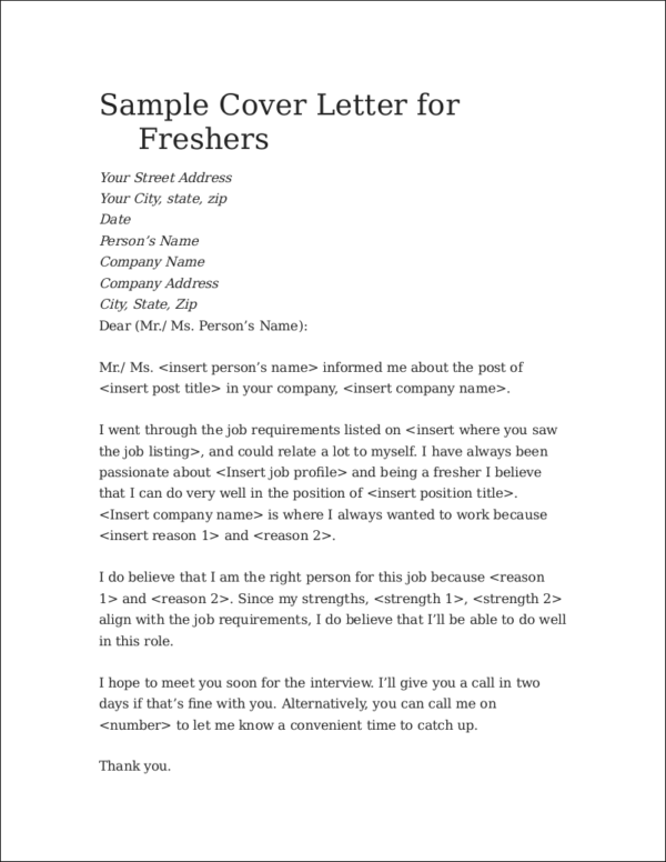 cover letter tips for first time job seekers
